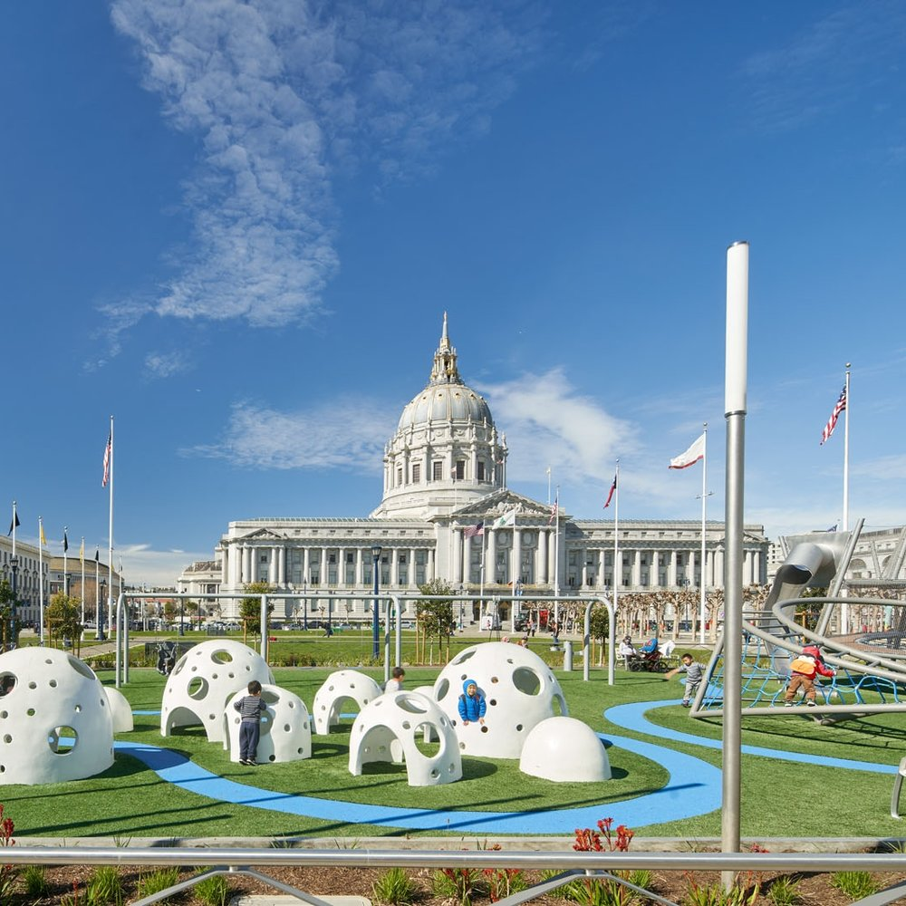 Helen Diller Civic Center Playgrounds