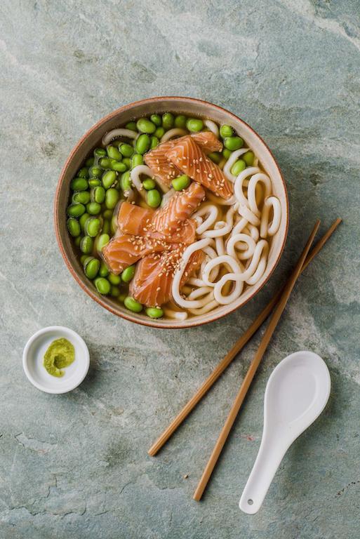 Salmon edamame and wasabi.jpg