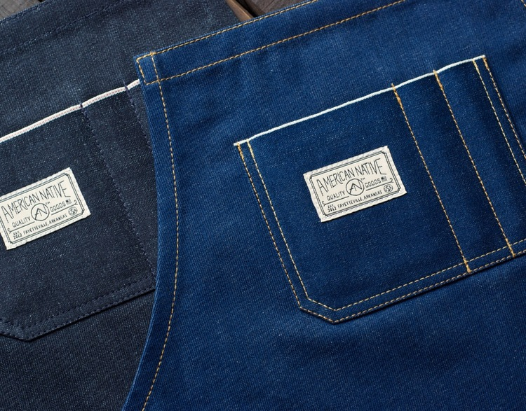 Selvedge Denim Leather Apron Made In U S A American Native Goods