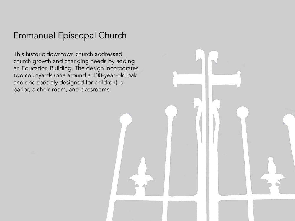 Emmanuel Episcopal Church Kinney Franke Architects Aia
