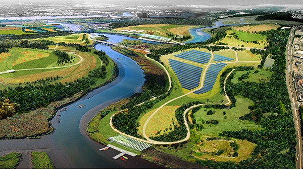 Freshkills Park - Staten Island, NY. (which also produces solar energy)
