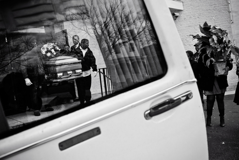 The funeral of Tim Spicer, the 169th victim of homicide in DC in 2007.