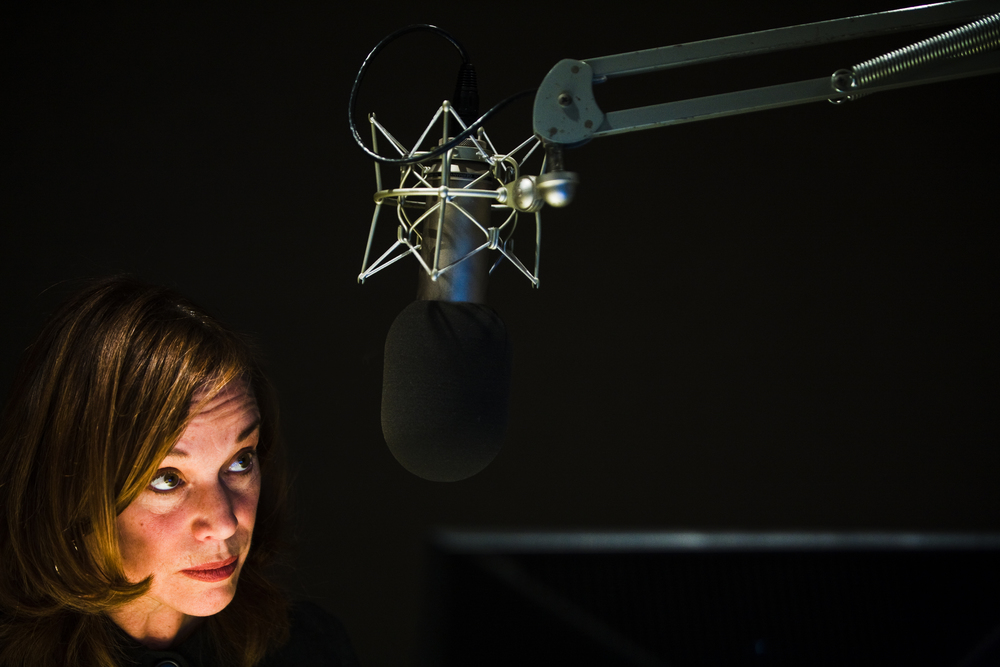 NPR Morning Edition Host Renee Montagne waits for her cue while recording the show at NPR Headquarters in Washington, DC.