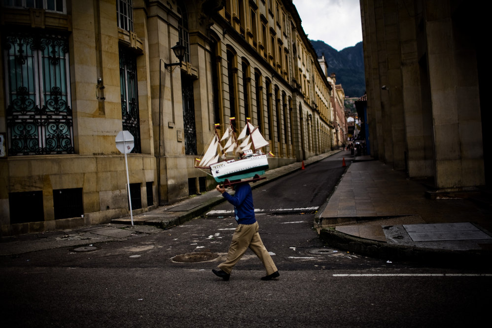 Bogota Colombia Street Scene