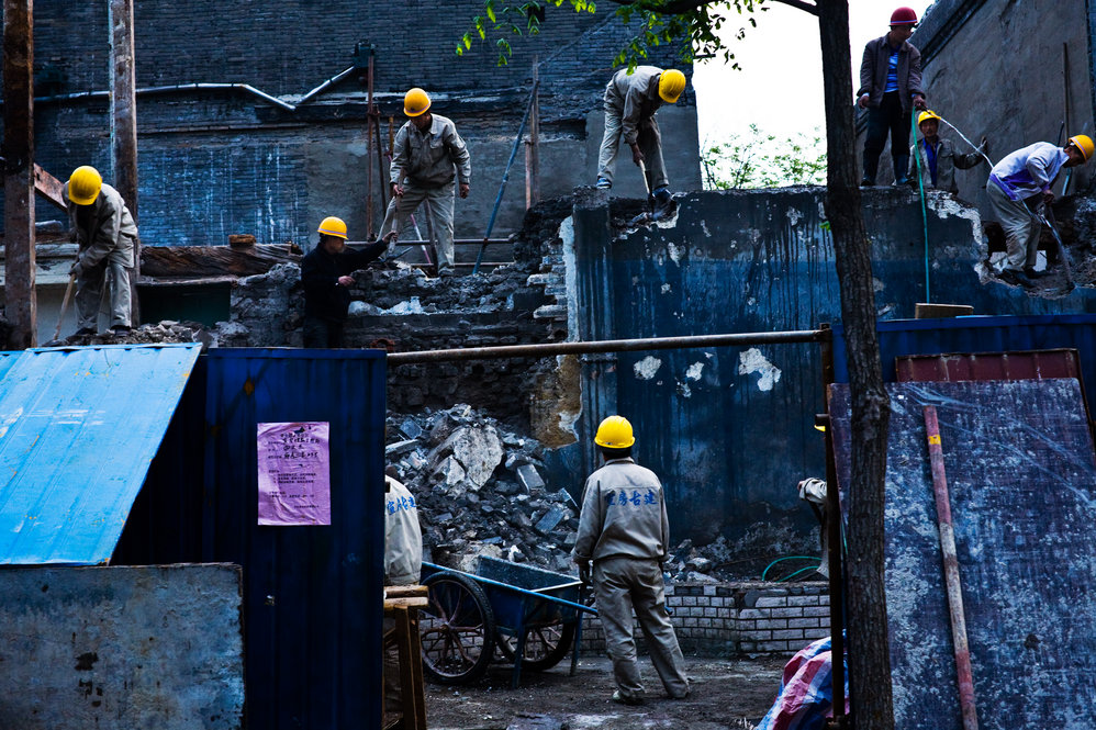 Hutong Destruction in Beijing, China