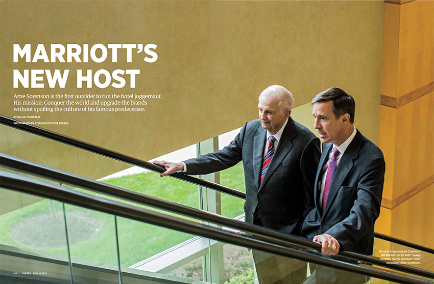 Bill Marriott and Arne Sorenson for Forbes