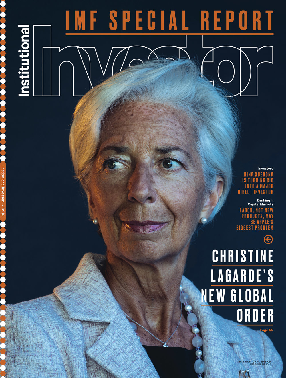 IMF Head Christine Lagarde for Institutional Investor