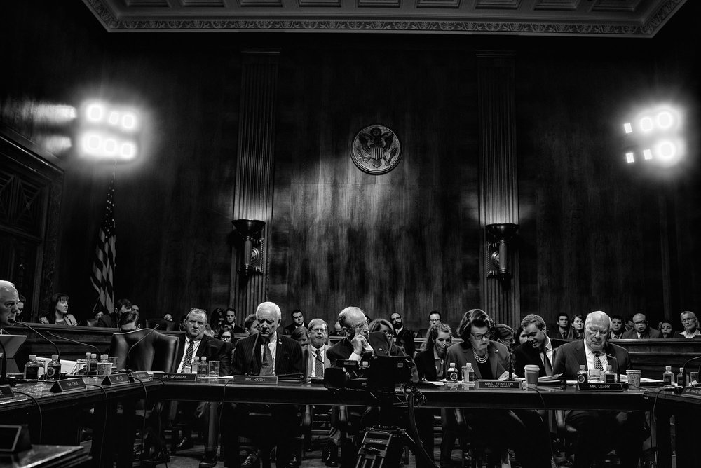 The US Senate Committee on the Judiciary meets to consider the nomination of Sen. Jeff Sessions for Attorney General of the United States on January 31, 2017.