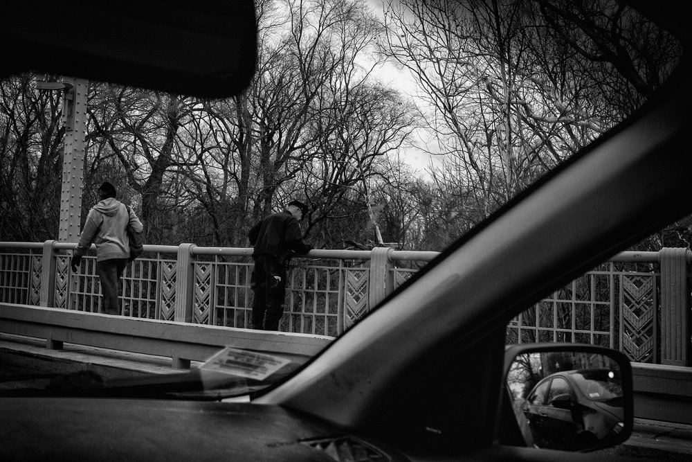 A police officer on the Taft Bridge in Washington, DC on February 3, 2017.
