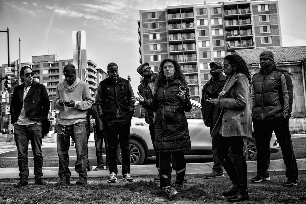 A gathering organized by hip hop artist Talib Kweli near Dupont Circle on March 6, 2016. The purpose of the gathering was to discuss ways to resist against the Trump presidency.