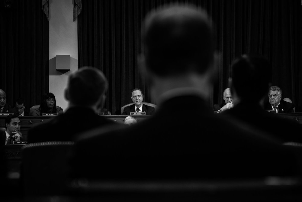 Representative Adam Schiff during a House Permanent Select Committee on Intelligence hearing concerning Russian interference in the 2016 United States election, on March 20, 2017.