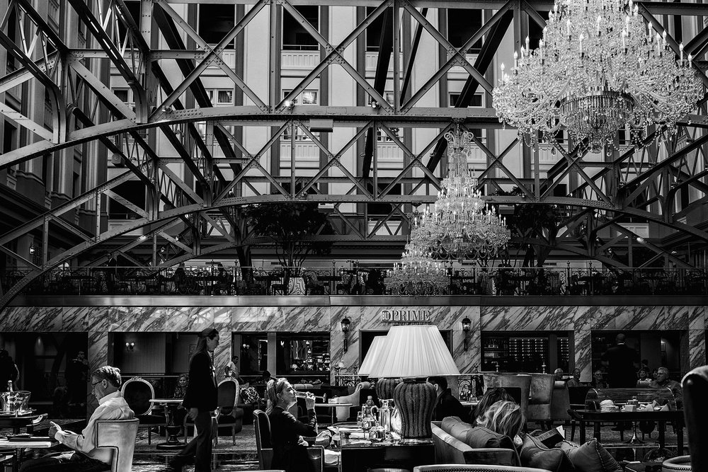 The lobby of the Trump International Hotel on March 29, 2017.