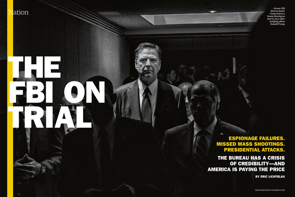Former FBI director James Comey in TIME