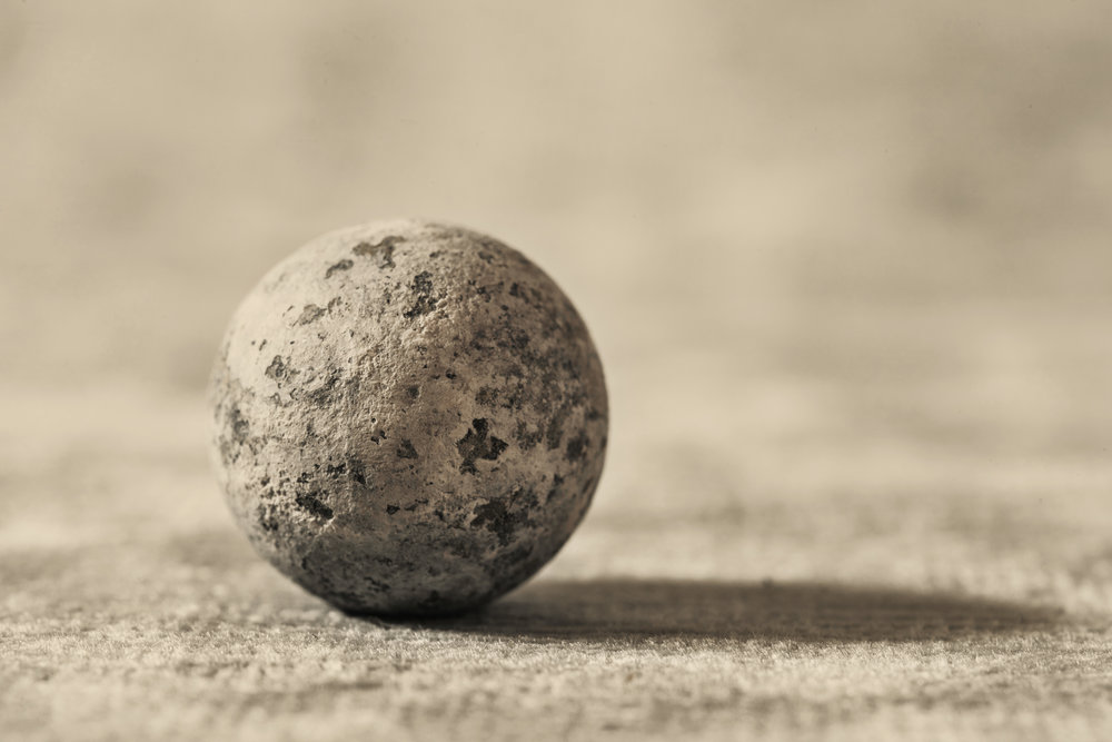 Civil War lead musket ball
