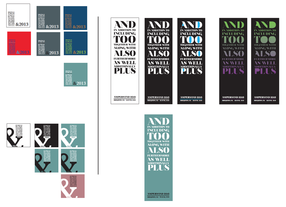 Type conference identity/poster process/colorways.