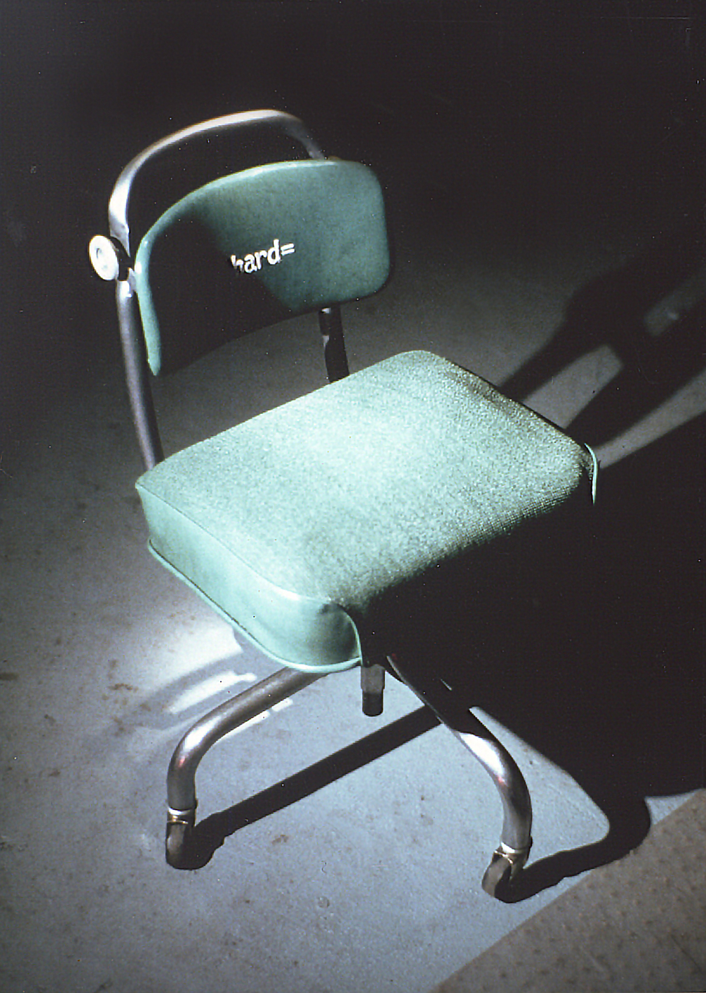 """Hard"" chair detail"