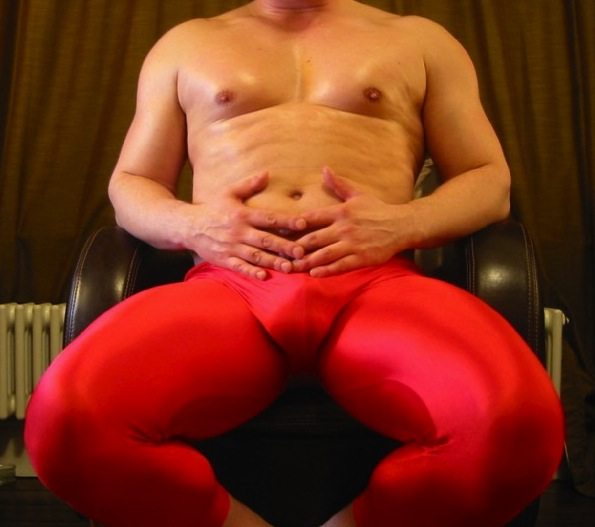 Cherry red spandex. Alive.