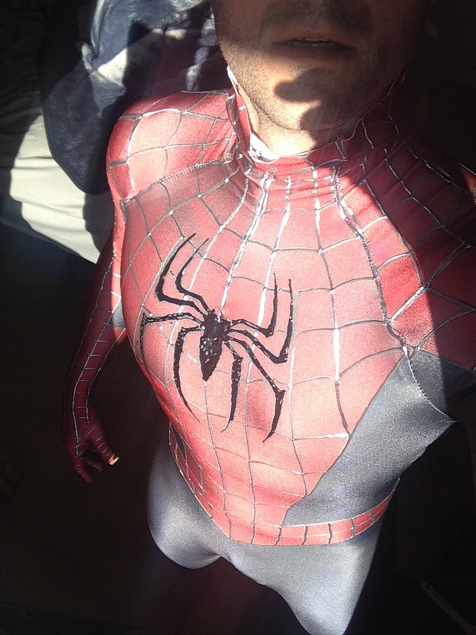 Captain Spandex in iconic spider skin