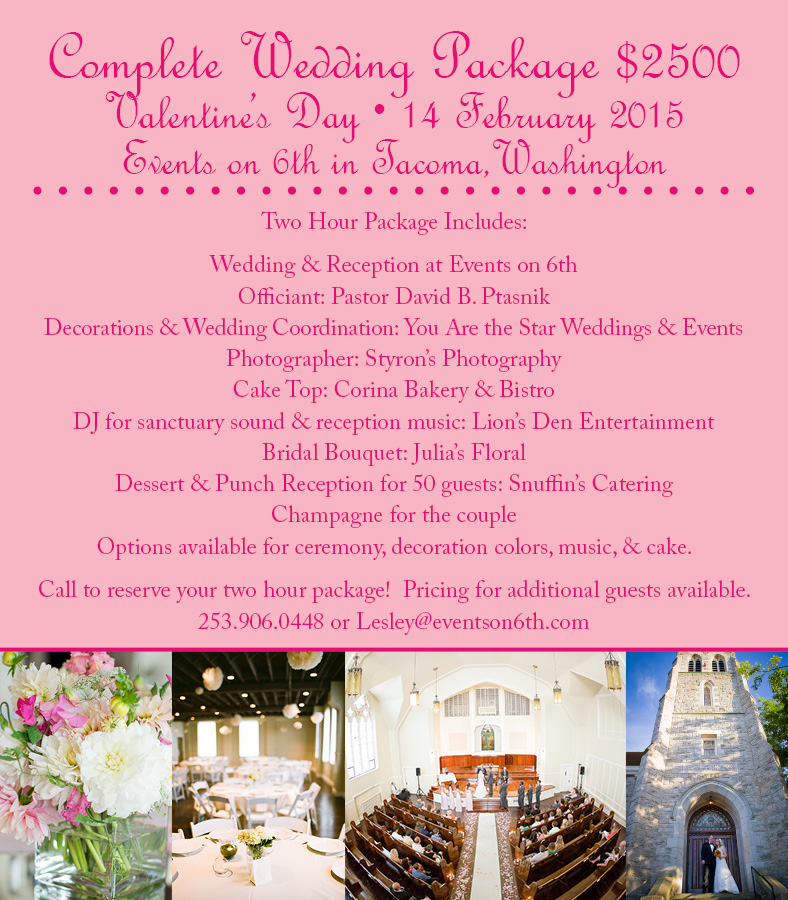 Get In On This Complete Wedding Day Package For Valentines Day