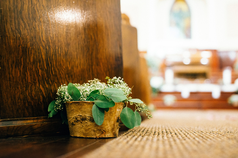 Wedding decorations, wedding aisle, church, Events on 6th, Photo by Christina Klas Photography