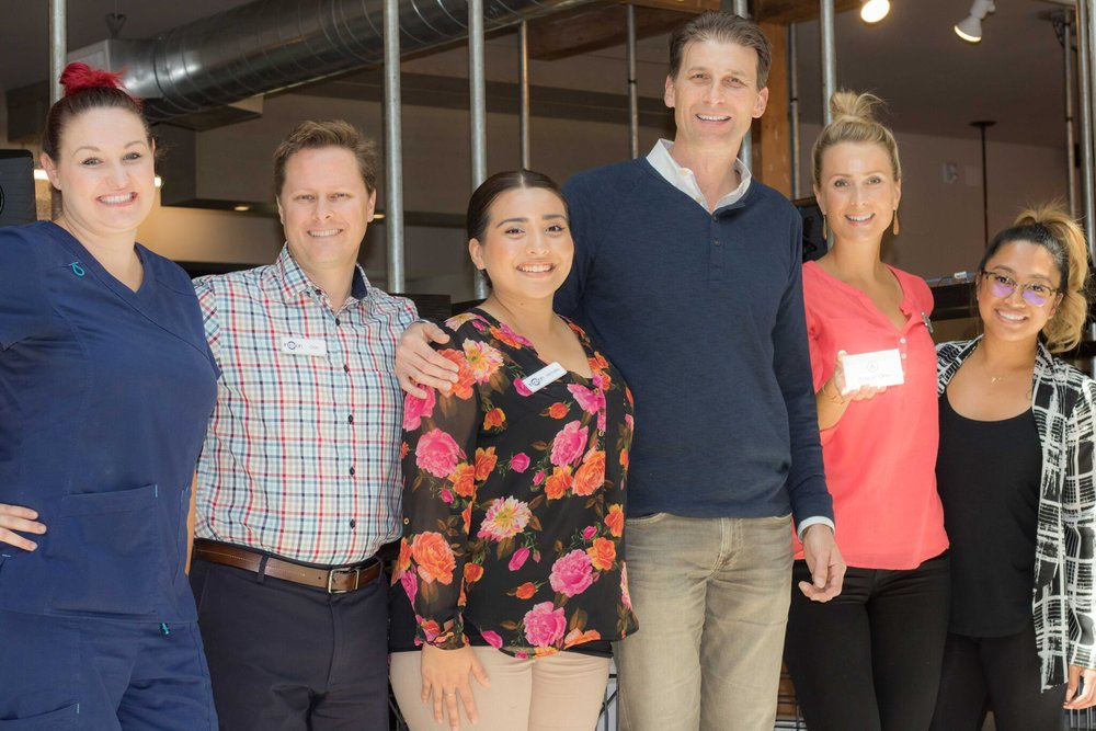 The Invision Team, from left: Megan Worthington (Technician),Don Rooker (Chief Operating Officer),Michelle Lopez (Scheduling Administrator), Dr. Kling,Amy Fowlie (Chief Retail Officer),Jenna Pasay - Optician Photo: Colin Gazley