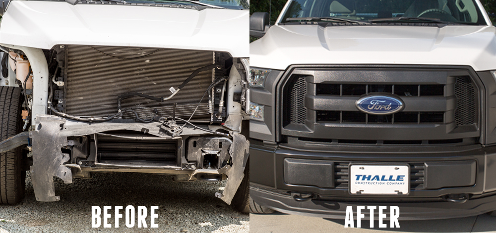 COLLISION CENTER Our collision center is here for you in the event you are in an accident. We regularly repair fenders and damaged hoods from deer hits.  We work with all insurance companies.