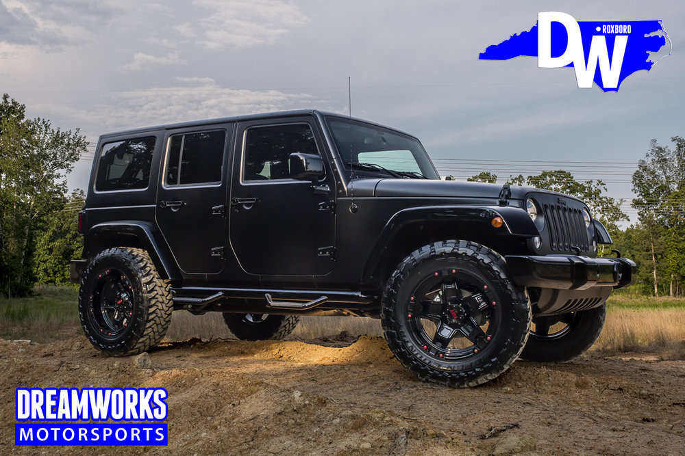 2015 Matte Black Jeep Wrangler Unlimited For NBA Veteran, Gerald Wallace  Features Gloss Black Accents, Custom Painted Tuff Wheels, Open Country Toyo  Tires, ...