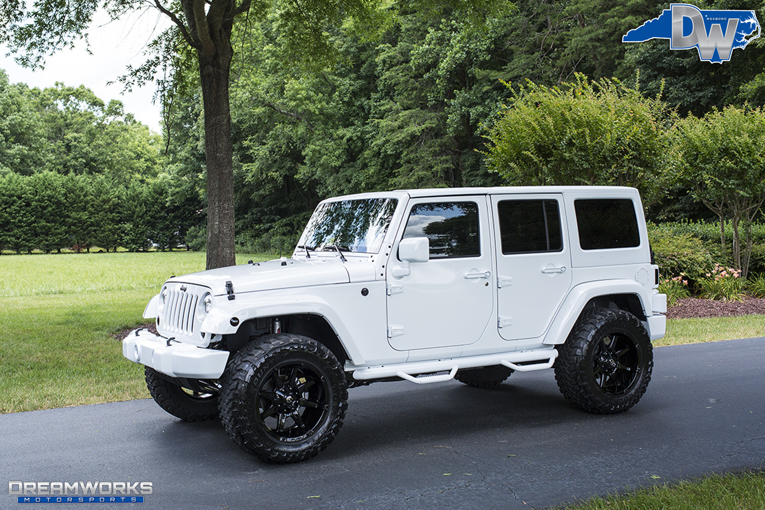All White Jeep Dreamworks Motorsports