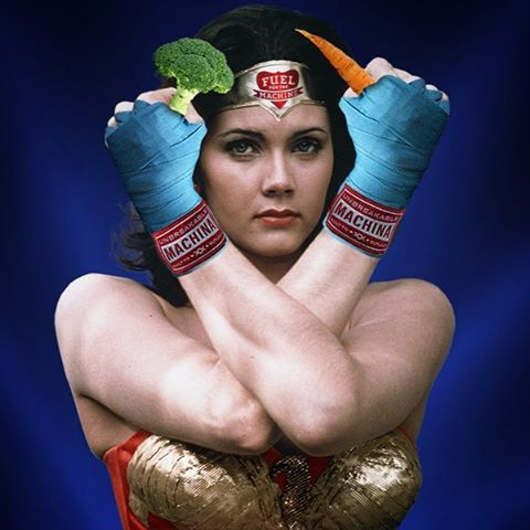 It was inevitable that one day we would post a photo of Wonder Woman in Machina gear... That day is today! Be sure to check out the latest #FuelBlog post Foods That Fight (Breast Cancer) FuelForTheMachine.com