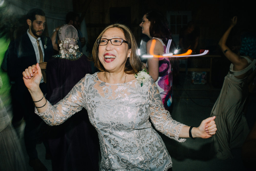 mother of the groom dancing at reception