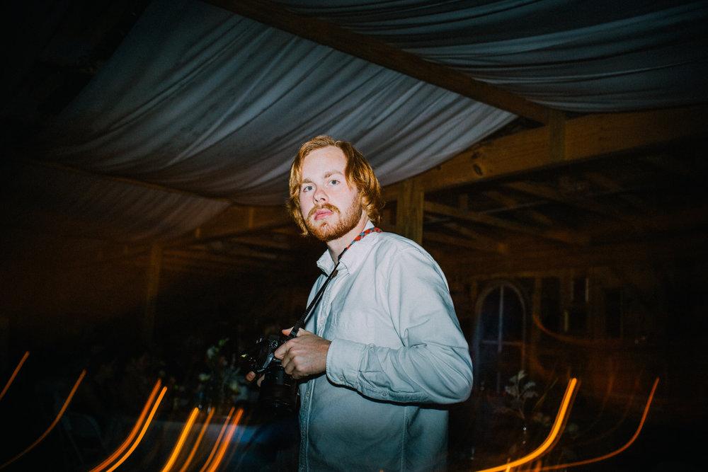 photographer at wedding reception