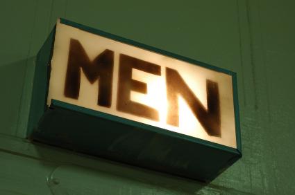 Men's restroom sign