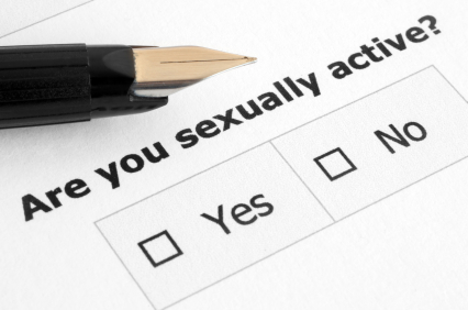"Sex survey asking the question ""are you sexually active?"""