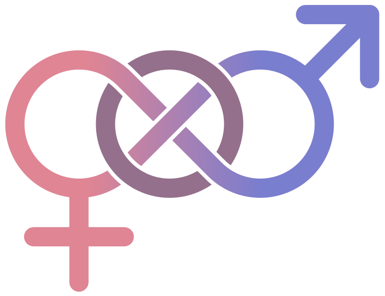 Classic gender symbols used to depict a bisexual orientation