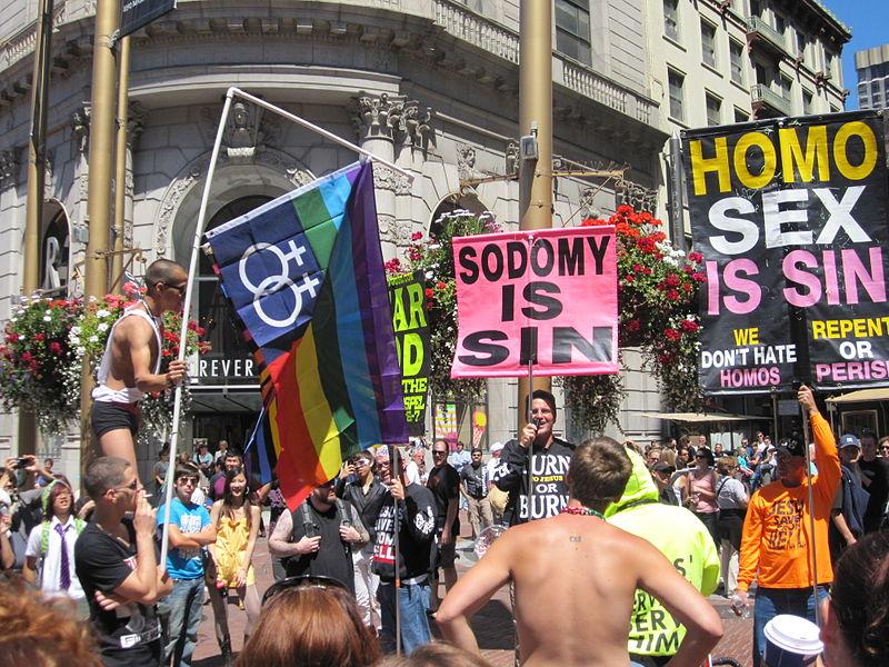 Stop homophobia street sign