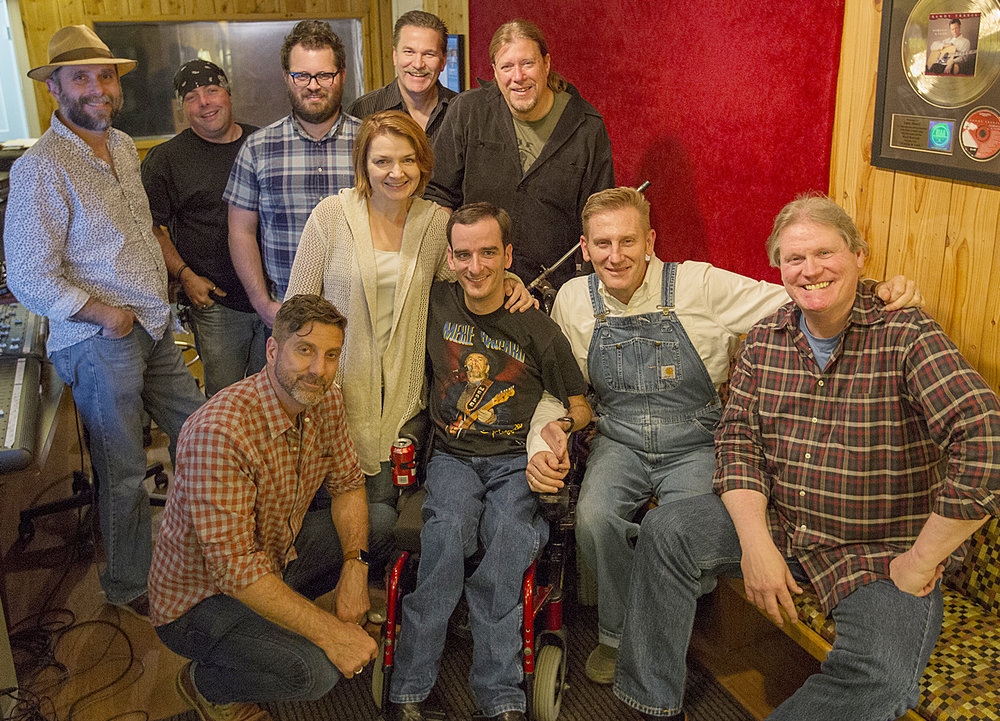 L-R Front: Aaron Carnahan, Tammy King, Bradley Walker, Rory Feek, Larry Beaird   L-R Back: Kevin (Swine) Grantt, Jim DeBlanc, Evan Hutchings, Rob Ickes, Jim (Moose) Brown