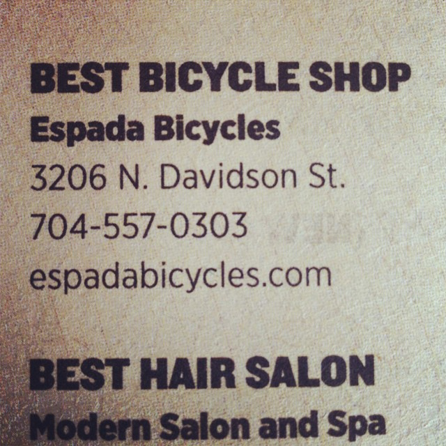 In print so I guess it is official...Thanks to my customers and creative loafing -- it was a bit of a surprise