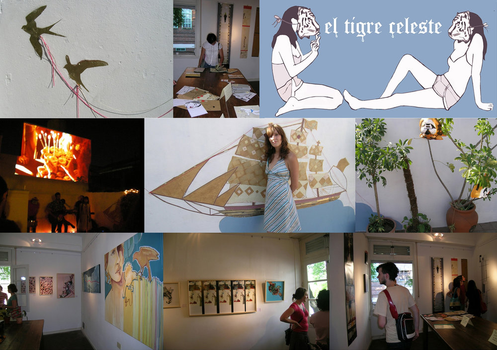 El Tigre Celeste Buenos Aires, Argentina In 2007 I co-founded and managed a community-based art gallery in Buenos Aires with fellow artist Celeste Najt. Our exhibitions and open-air screenings were featured in major Argentine newspapers such as Clarin and Pagina12. We were also featured as in British Airways Magazine as a go-to destination.