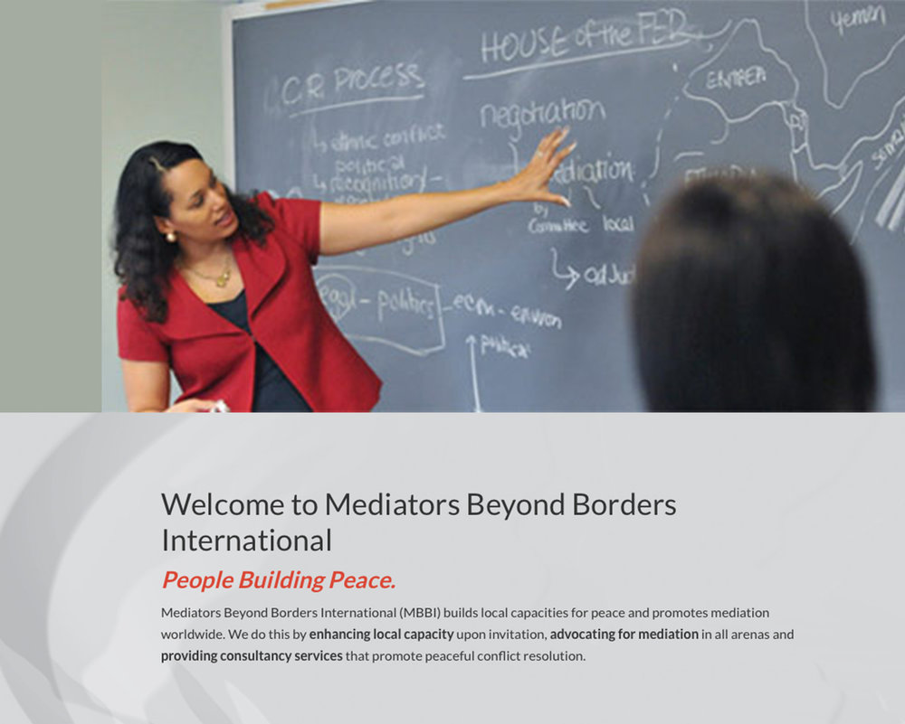 Mediators Beyond Borders Certification University of California Los Angeles  While working towards my Masters in Public Policy, I became a certified Mediation through Mediators Beyond Borders, completing an intensive course taught by the illustrious Anna Spain Bradley. I had the opportunity to learn the foundations of effective mediation through the lens of someone with a life-long career in international law and conflict resolution. My mediation training is something I try to bring to each project and problem I am presented with. As a tenured Associate Professor at the University of Colorado School of Law, Anna researches and writes about issues of global cooperation and conflict. Her work on international dispute resolution seeks to illuminate its function in promoting peace by, for example, showing why the use of mediation alongside legal methods can improve long-lasting resolution of disputes. She also designs and teaches courses on international law, international dispute resolution, international human rights and humanitarian law, mediation, national security, and legal ethics. She frequently employs an experiential approach in her pedagogy. As a lawyer, Anna has expertise in public international law and international arbitration. She recently served as counsel for two African nations in proceedings at the Permanent Court of Arbitration in The Hague. She previously served as an Attorney-Adviser at the U.S. Department of State, Office of the Legal Adviser where she represented the U.S. before the Iran-U.S. Claims Tribunal in The Hague, served as a delegate to the United Nations Compensation Commission in Geneva and advised the Department on international trade and investment matters in Asia and the Pacific. Anna Spain is a founding member and former Board member of Mediators Beyond Borders International.