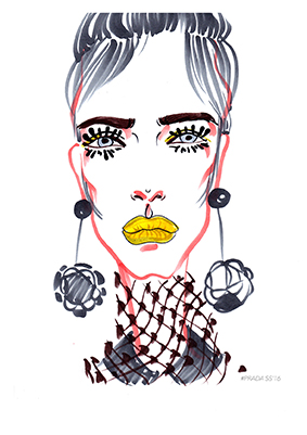 Prada SS'16 womenswear sketches