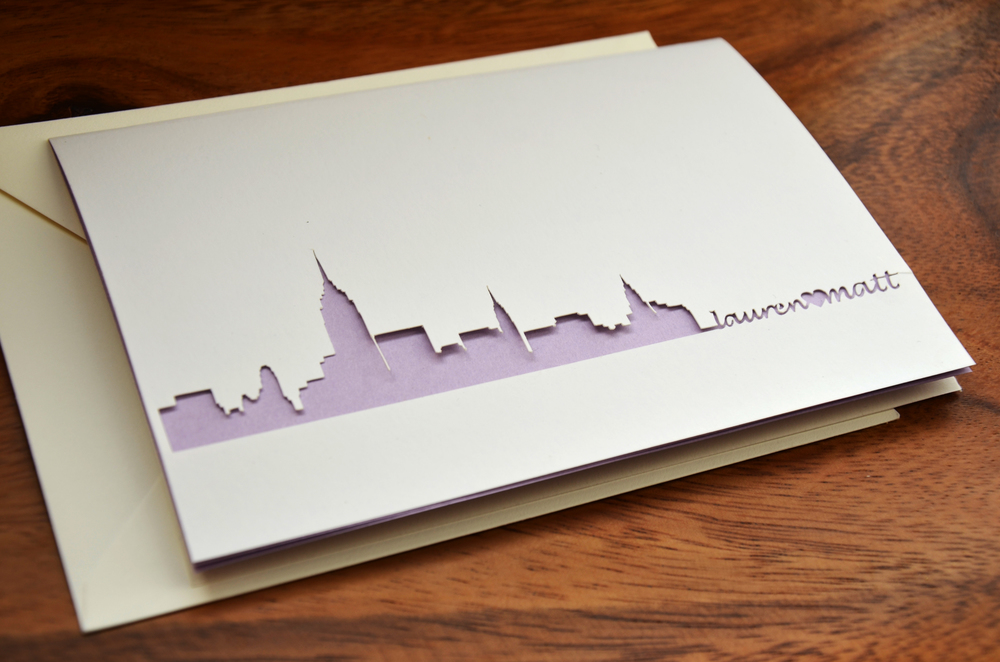 NYC Skyline Wedding Card