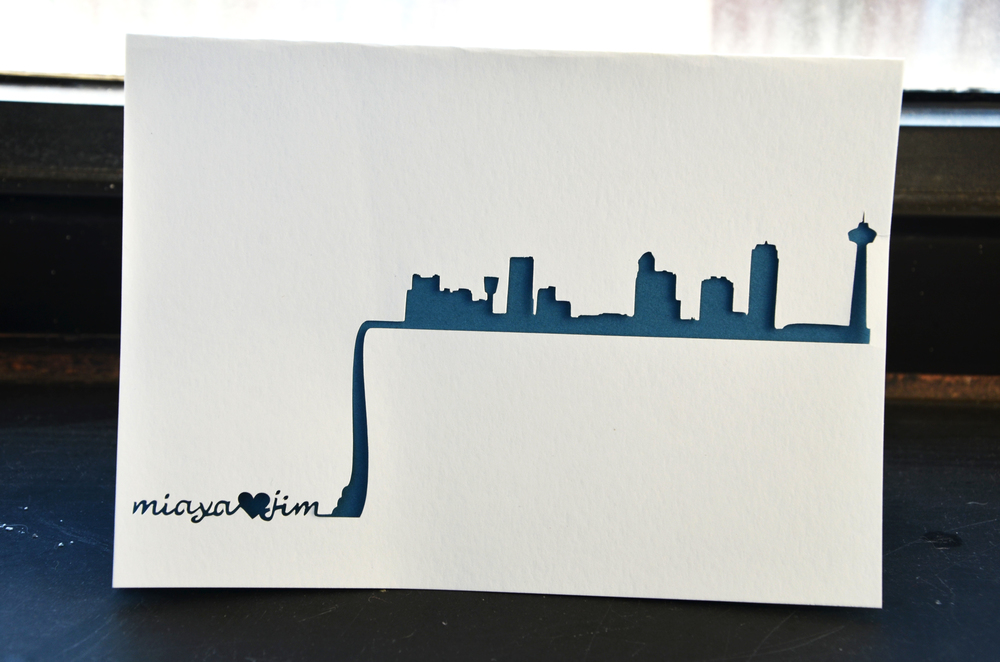 Niagara Falls Skyline Wedding Card