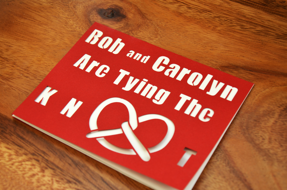 A Customized Version of Our Philadelphia Love Knot Card.