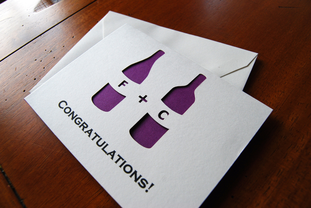 A Wedding Card for Wine Lovers