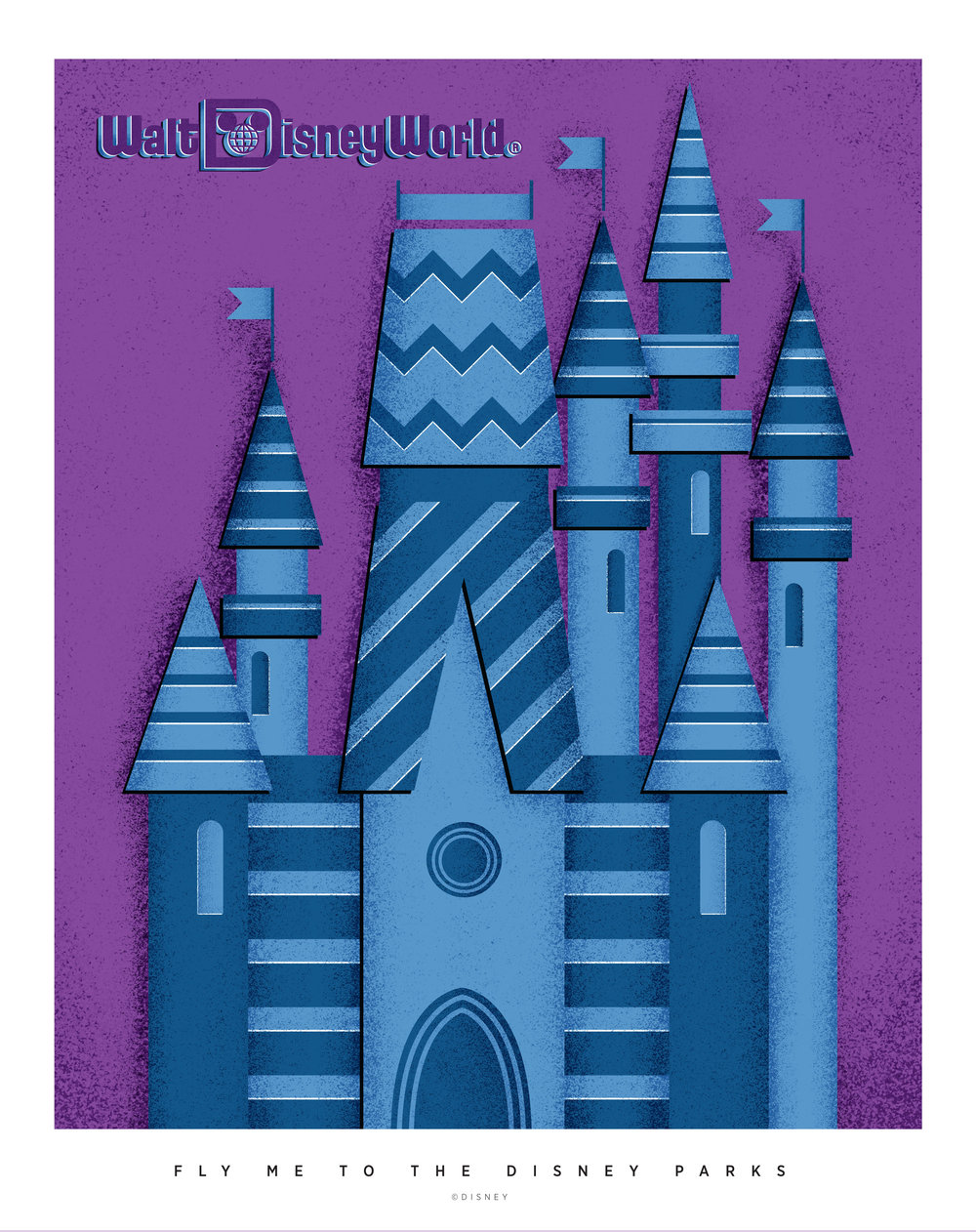 Walt Disney World travel poster (click to enlarge)