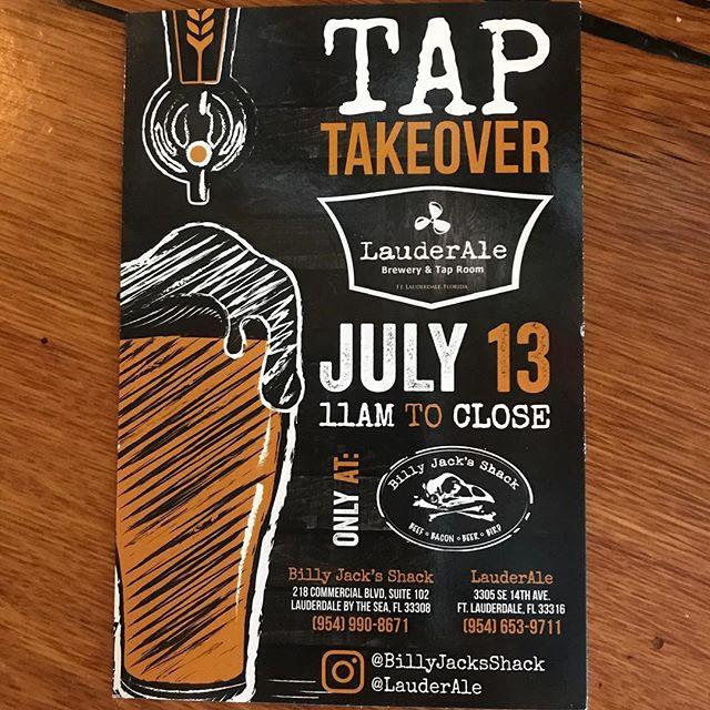 Goin down this #Friday #BillyJacks #Lauderale #drinklocal #craftbeer #instabeer #beerstagrsm #soflo #cheers