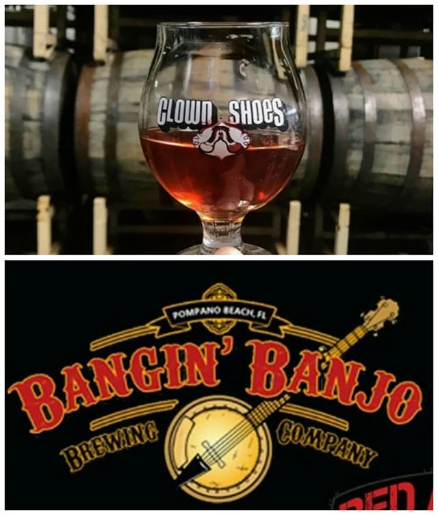 Tomorrow #Thursday you can catch us in #southbeach @rickyssobe as @clownshoesbeer takes over their taps! Or if you are in #coopercity head over to @redalertcoopercity and sip on some @banginbanjobrewing! #thirstythursday #taptakeover