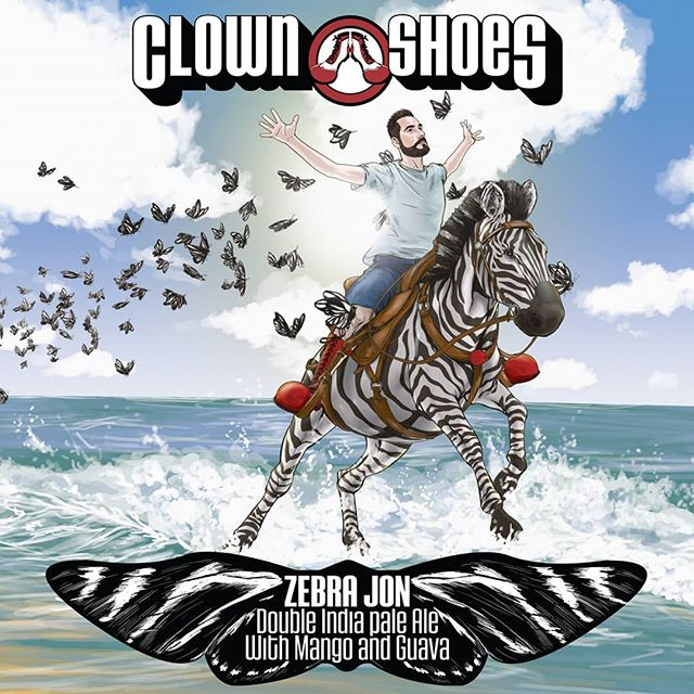 And.... He's back!!!! @clownshoesbeer #zebrajon is back in #southflorida on it's way out to your favorite craft beer bar and store this week! 😍