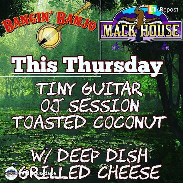@mackhousedavie #worldfamous deep dish grilled cheese and @banginbanjobrewing beers is a match made in heaven!😍 See you tonight!!!