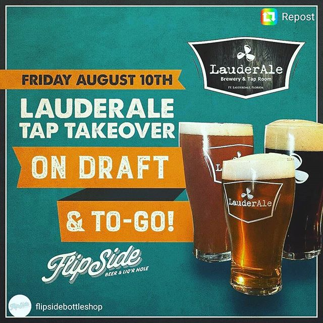 Going down tonight @flipsidebottleshop! @lauderale is invading #Hialeah!! #fridaynight #weekendvibes #miaminights #taptakeover